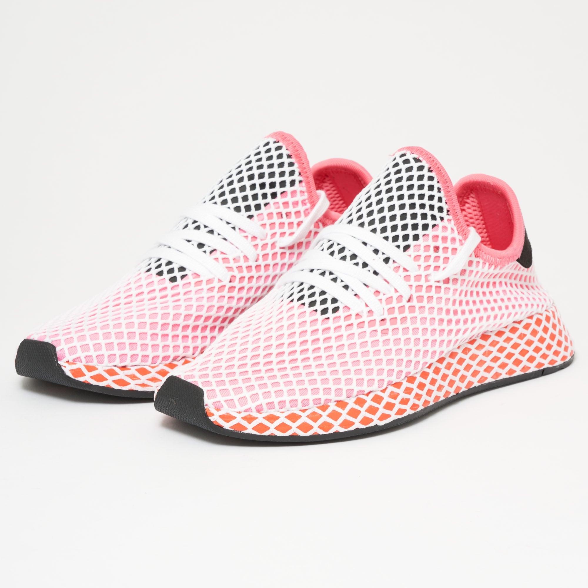 Adidas Originals Womens Deerupt Runner - Chalk Pink & Bold Orange