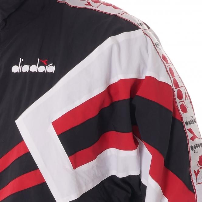 204706ab Jacket 1/2 zip MVB - Black/Red