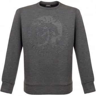 Diesel Verok Felpa Grey Neoprene Sweatshirt 00SJCI