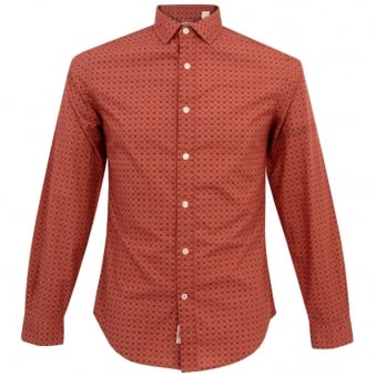 Dockers Alpha Laundered Orange Shirt 67280-0001