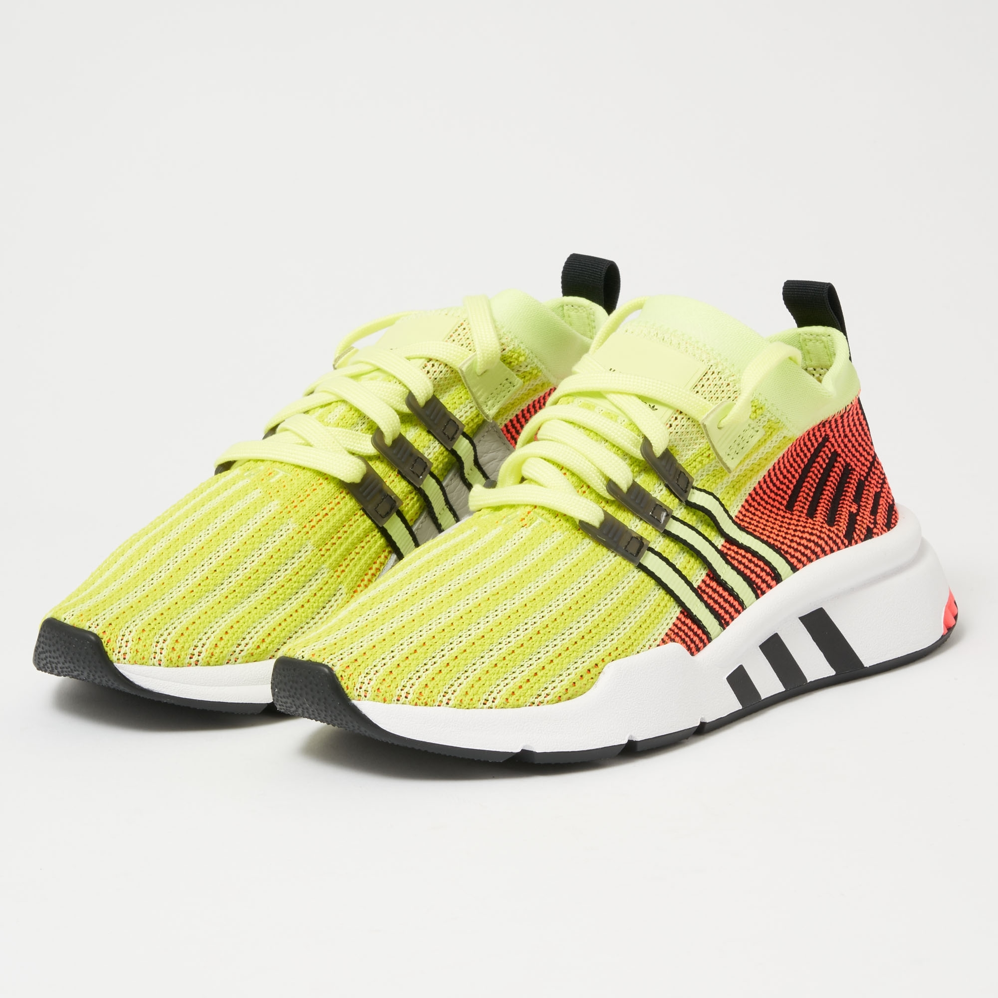 adidas Originals EQT Support MID ADV Primeknit Glow, Core Black & Turbo