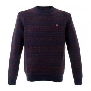 Farah 1920 Copperfield Dark Navy Jumper F9GF4022