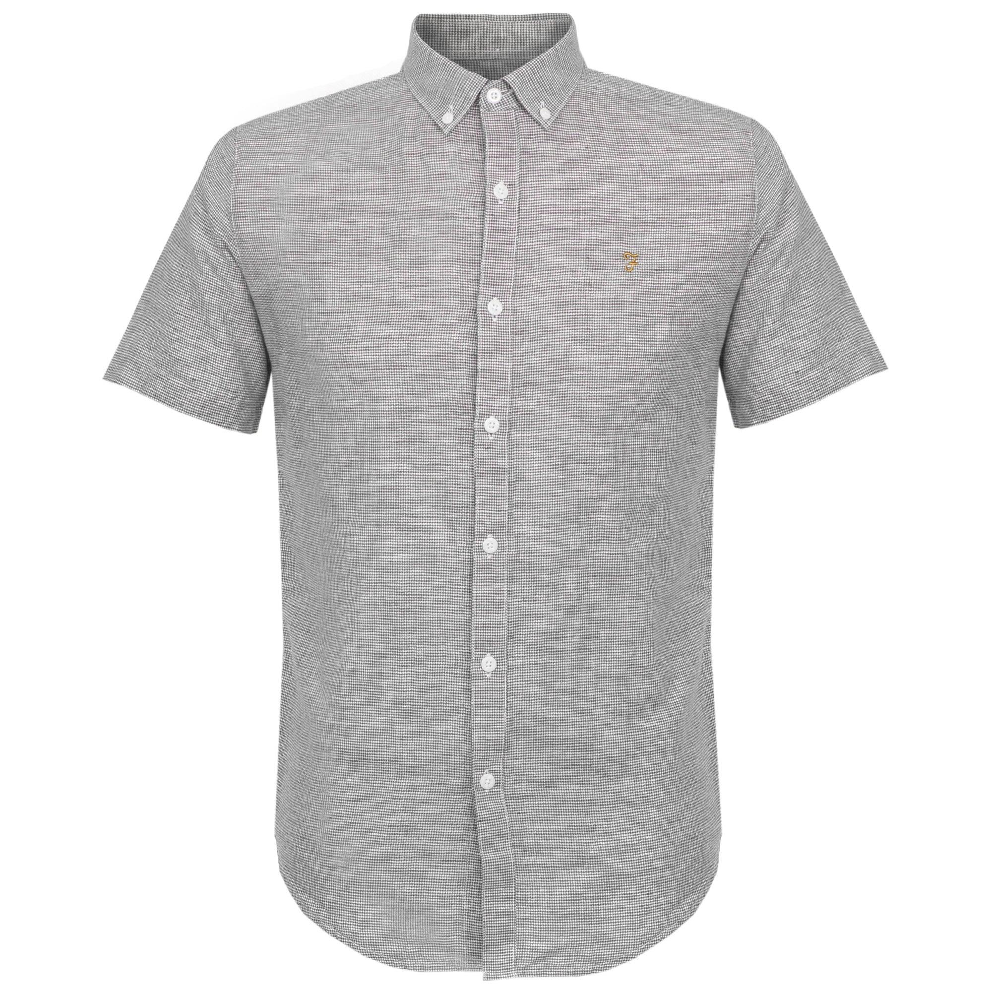 Farah Telford Slim True Navy Shirt F4WS7024 1a9c08932