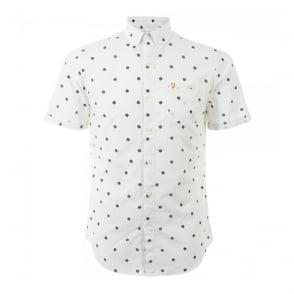 Farah Vintage Victor Ecru Short Sleeve Shirt F4WS5093