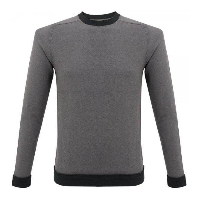 Folk Clothing Folk Contrast Rib Mid Grey Charcoal Jumper F2420K