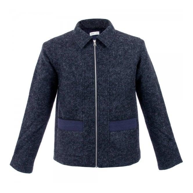 Folk Clothing Folk Layered Bright Navy Pocket Jacket F2404