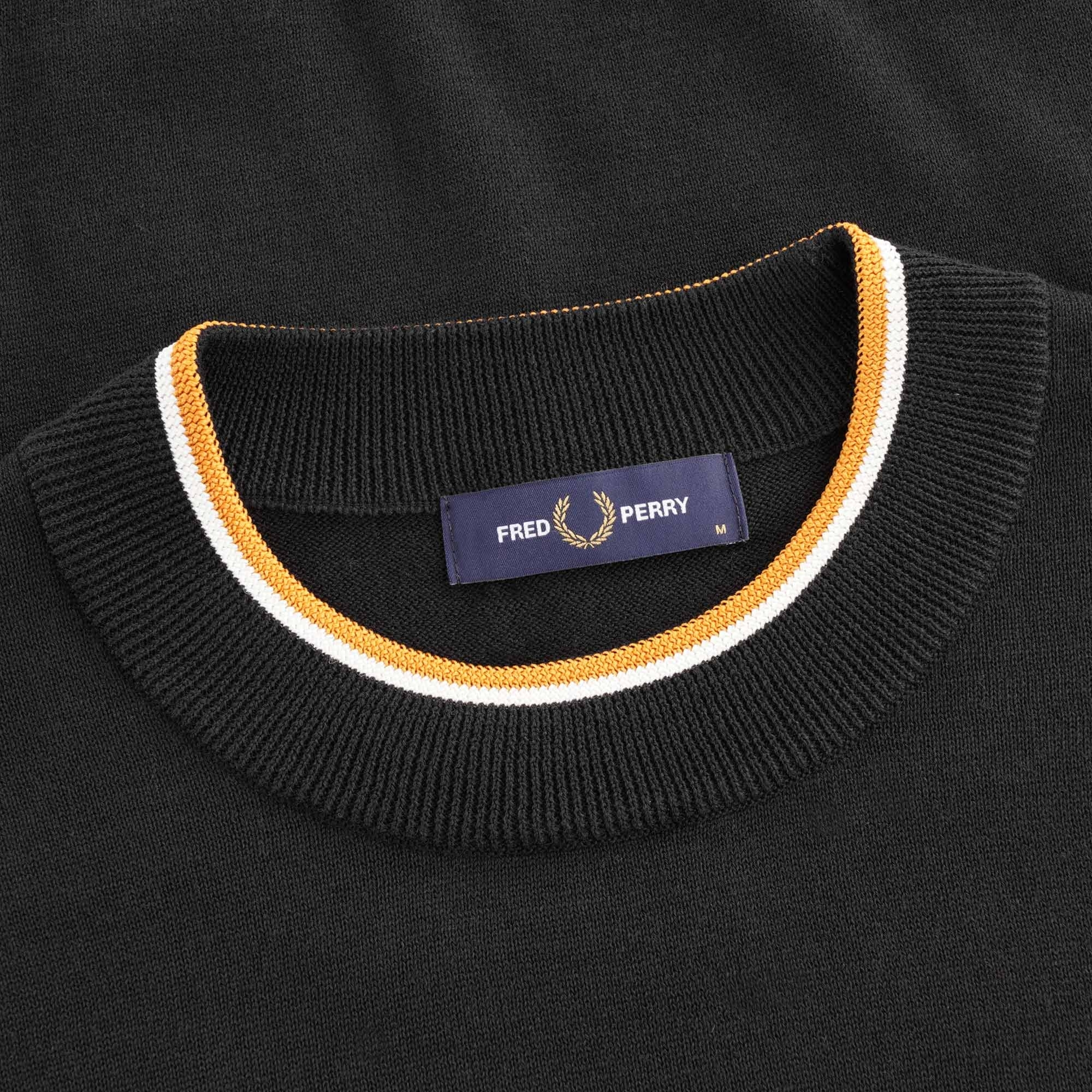Fred Perry Knitted T-Shirt - Black