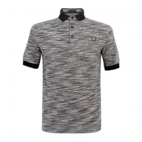 Fred Perry Laurel Static Grey Marl Polo Top M5122-557
