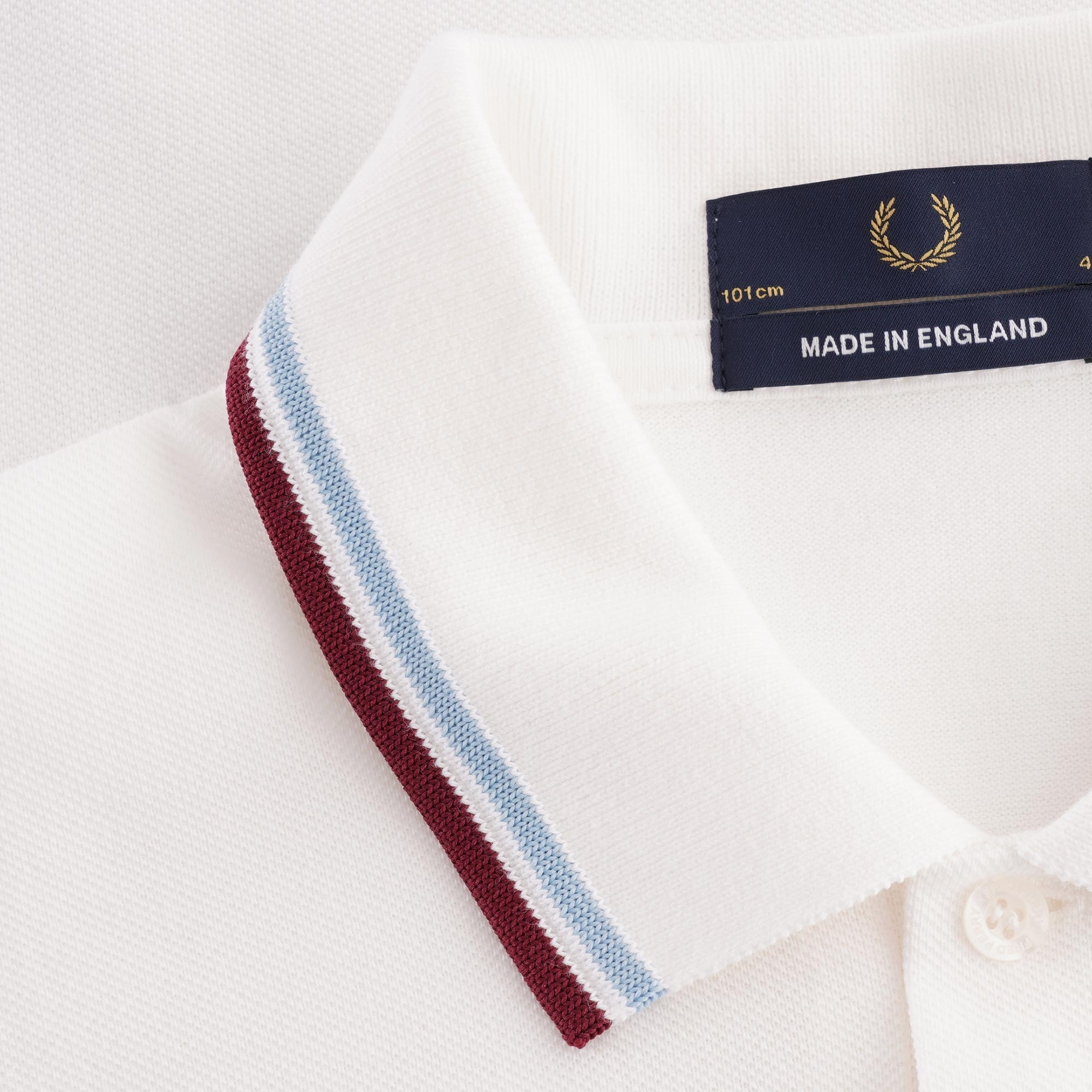 Fred Perry Polo Shirt M1200 641 Blau Weiß  5445