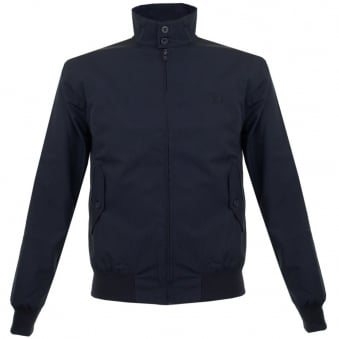 Fred Perry Navy Harrington Bomber Jacket J1170