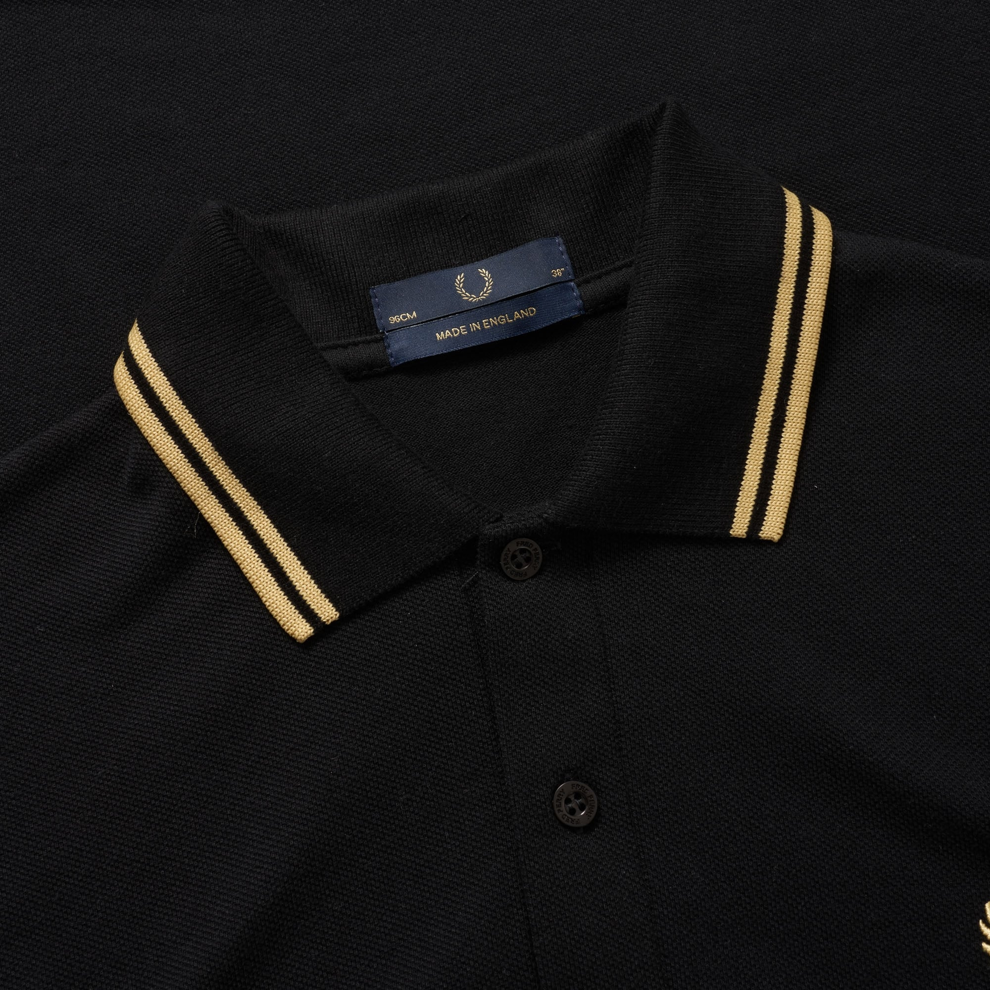 Fred Perry Reissues Twin Tipped Polo Shirt - Black & Gold