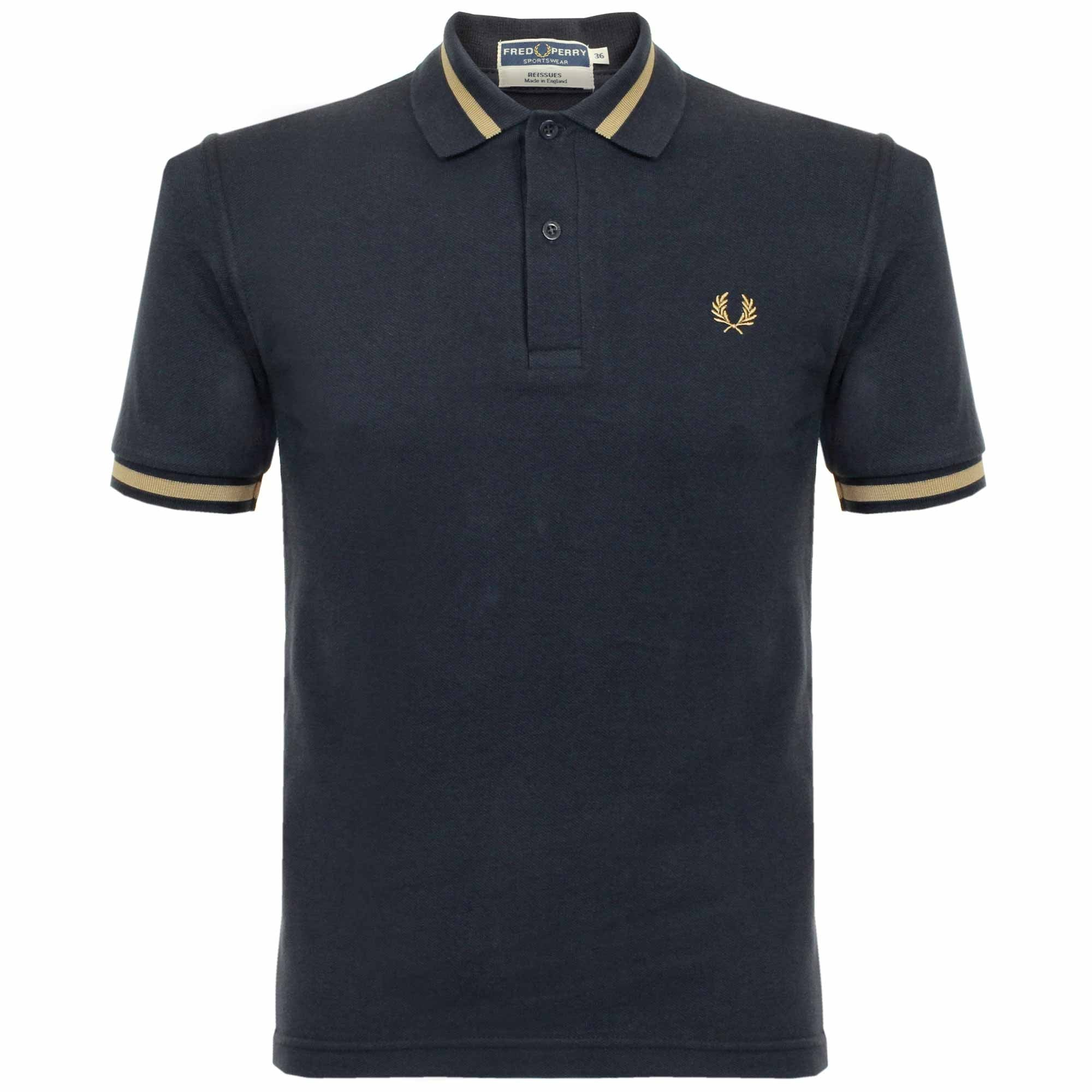 Fred Perry Single Tipped Navy Pique Polo Shirt M2 248