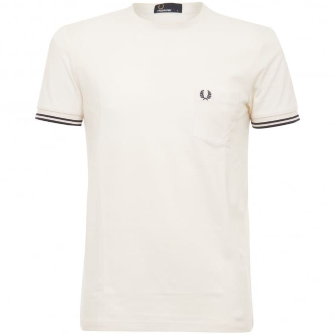Fred Perry Authentic Fred Perry Twin Tipped Pique T-Shirt Cream M2536