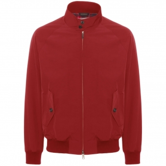 G9 Modern Classic Harrington Jacket - Dark Red