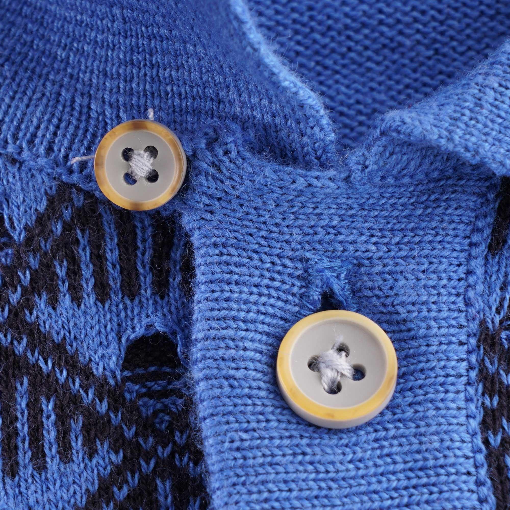 Gabicci Collared Knitted Polo Wool Blend £9.99 BNWT Medium Sunrise//Navy
