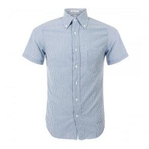 Gant Rugger Indigo Madras Blue Striped Shirt 344210