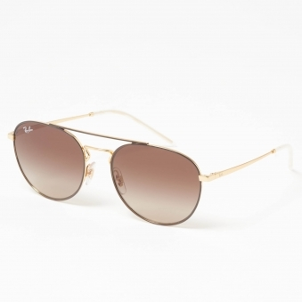 Gold RB3589 Sunglasses - Brown Gradient Lenses