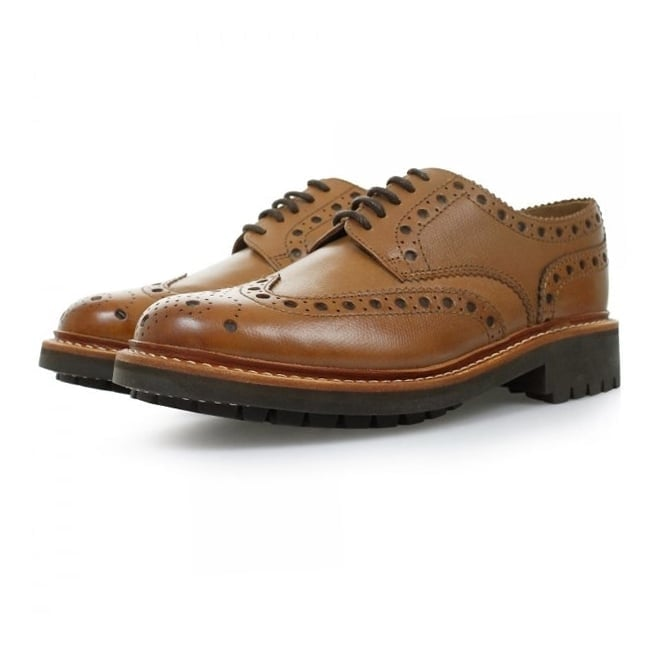 Grenson Archie Commando Tan Brogue Shoes 5067/451C