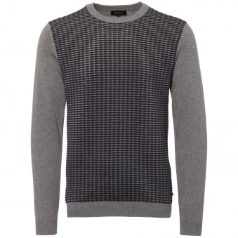 Grey and Navy Melange Triton Jumper