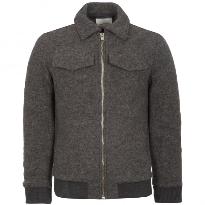 Wood Wood Grey Melange Acton Jacket