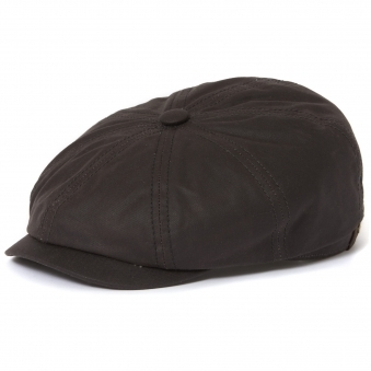 Hatteras Waxed Newsboy Cap- Black