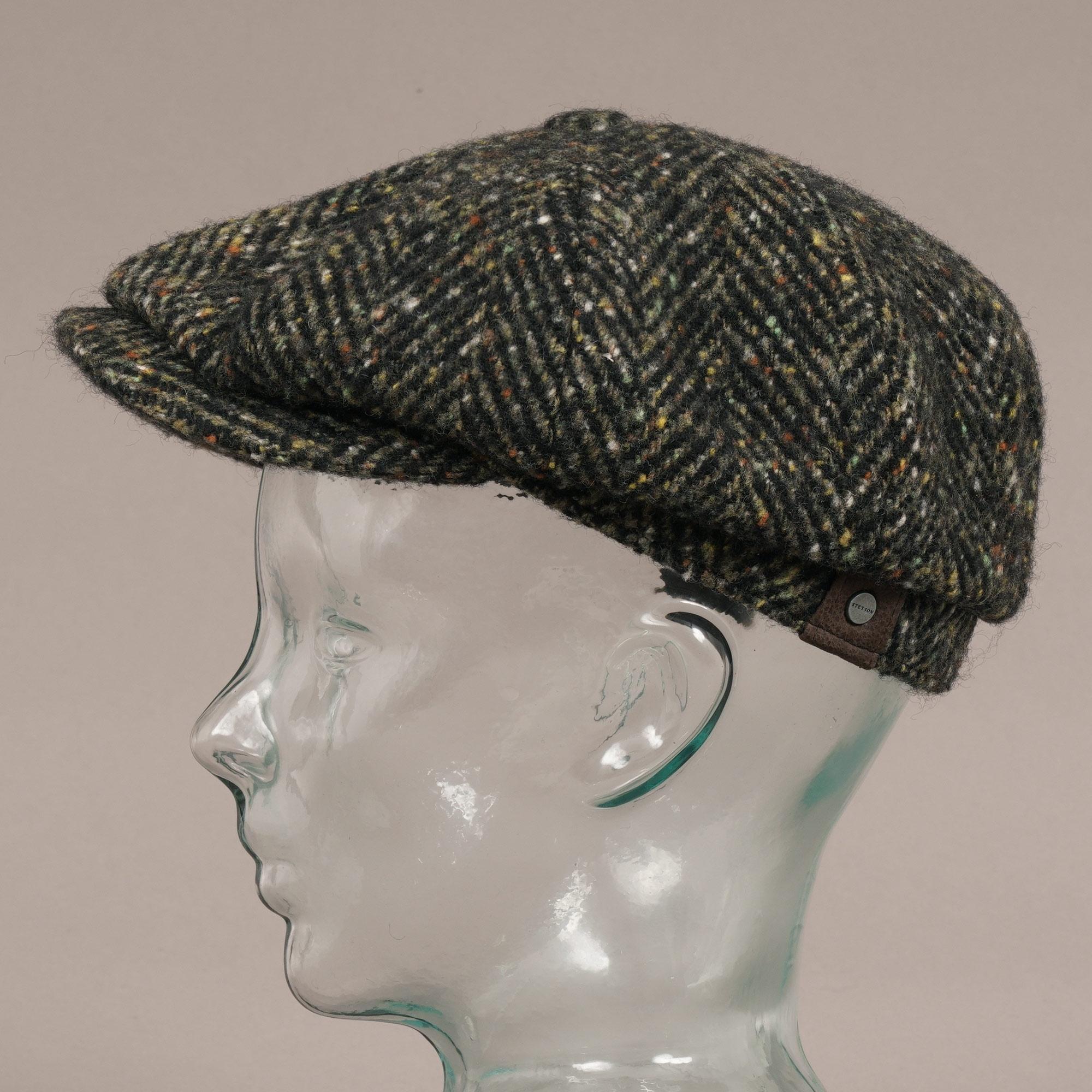 7a53c9e0c8d Hatteras Wool Bakerboy Cap - Black Multi