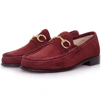 Horatio Beaufoy Burgandy Suede Shoe 1006bur