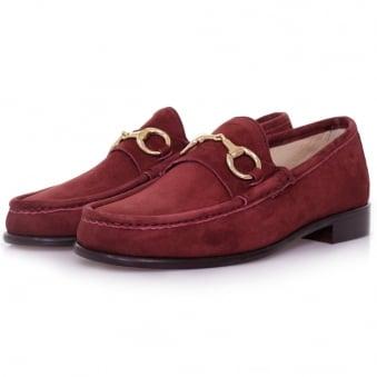 Horatio Beaufoy Burgandy Suede Shoe 1006bur