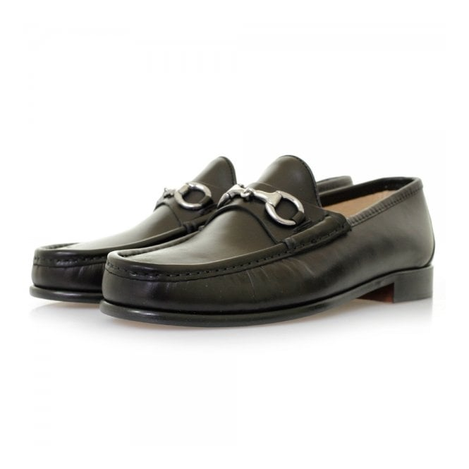 Horatio N Beaufoy Black Leather Shoes BLK1002