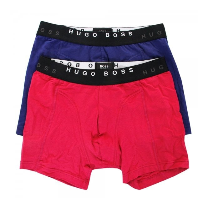 BOSS Hugo Boss Hugo Boss 2 Pack Cyclist Open Pink Blue Boxer Shorts 50271736