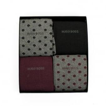 Hugo Boss 4 Pack Design Box Socks 50299901