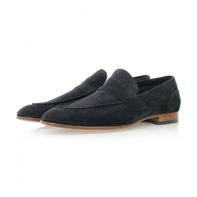 BOSS Hugo Boss Hugo Boss Artiloseo Dark Blue Suede Loafer Shoes 50310478