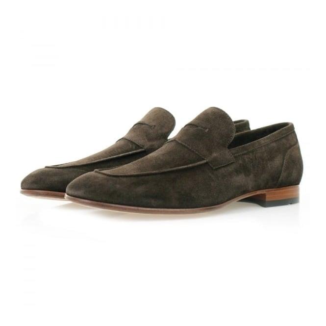BOSS Hugo Boss Hugo Boss Artiloseo Dark Brown Suede Loafer Shoes 50310478