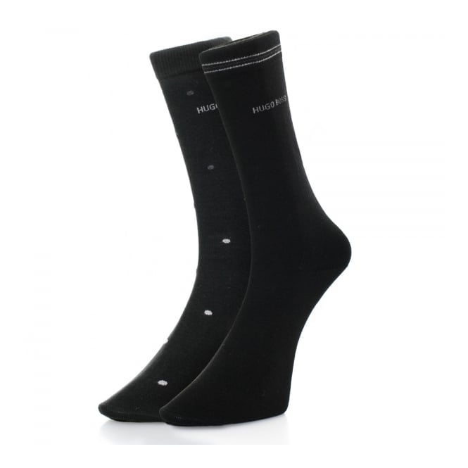 BOSS Hugo Boss Hugo Boss Black Double Pack Patterned Black/Grey Socks 50312862