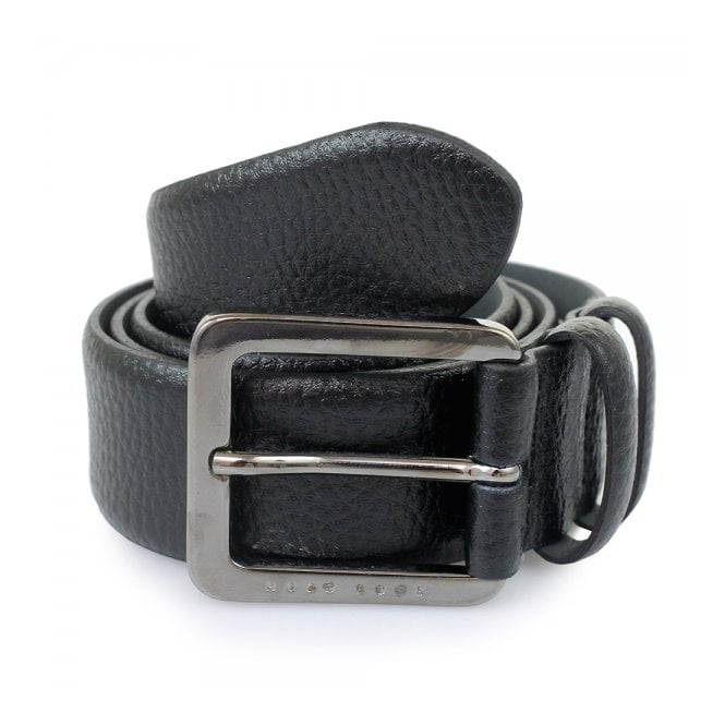 BOSS Hugo Boss Hugo Boss Black Leather Belt Cesen 50299663 001