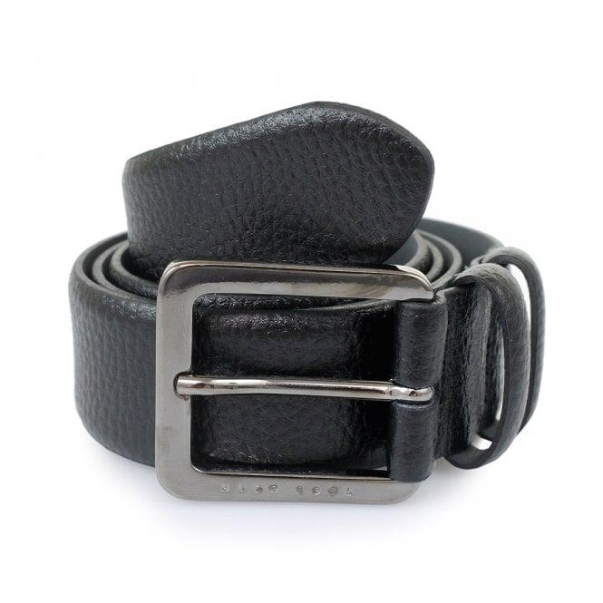 BOSS Hugo Boss Hugo Boss Black Leather Belt Cesen 50299663 001