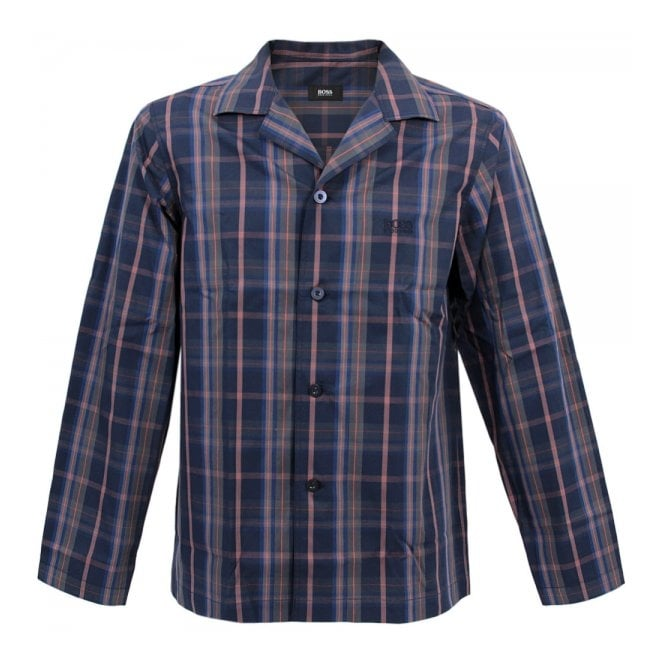 BOSS Hugo Boss Hugo Boss Black Pyjama 2 Check Open Blue Pyjama Set 50260112