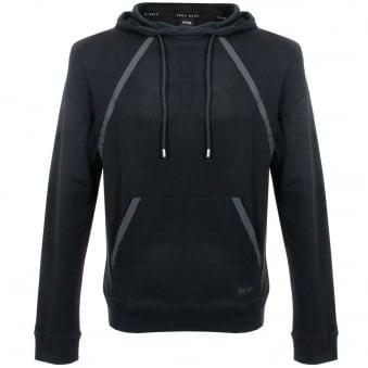 Hugo Boss Black Shirt Hooded Black Sweatshirt 50283208