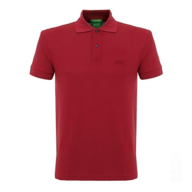 Boss Green Hugo Boss C-Firenze Logo Dark Red Polo Shirt 29233