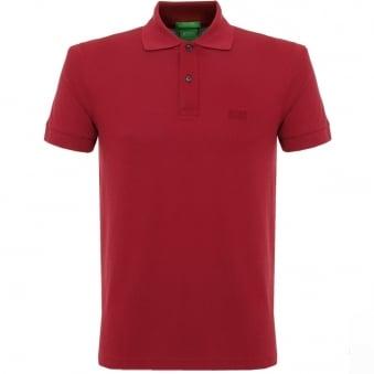 Hugo Boss C-Firenze Logo Dark Red Polo Shirt 29233