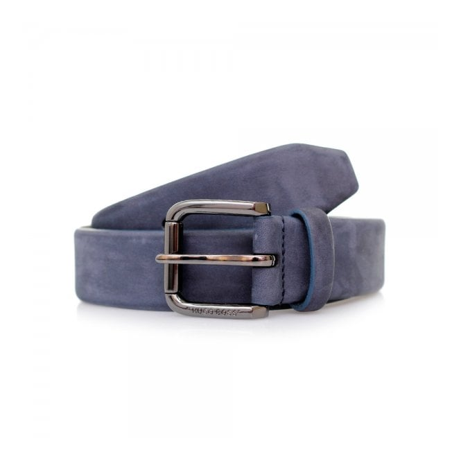 BOSS Hugo Boss Hugo Boss Cansianabu Dark Blue Leather Belt 50299685