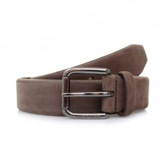 Hugo Boss Cansianabu Dark Brown Leather Belt 50299685