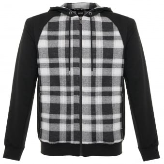 Hugo Boss Checked Black Sweatshirt Jacket 50322123