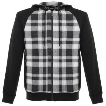 Hugo Boss Checked Black Sweatshirt Jacket 50322123