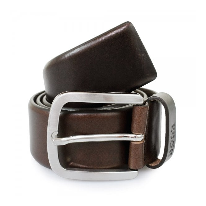 BOSS Hugo Boss Hugo Boss Dark Brown Leather Belt 50206885