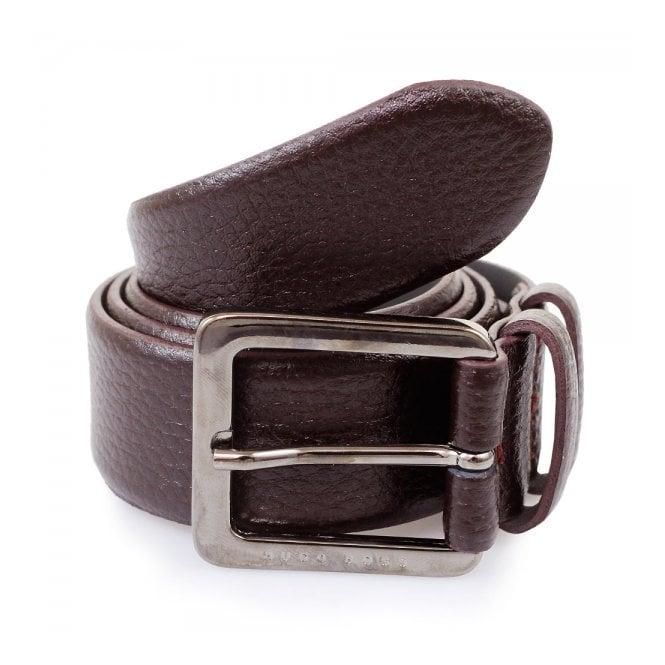 BOSS Hugo Boss Hugo Boss Dark Red Leather Belt Cesen 50299663 601