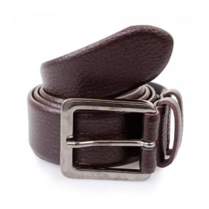 Hugo Boss Dark Red Leather Belt Cesen 50299663 601