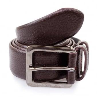 Hugo Boss Dark Red Leather Belt Cesen 50299663 601