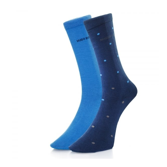 BOSS Hugo Boss Hugo Boss Double Pack Blue Patterned Socks 503128