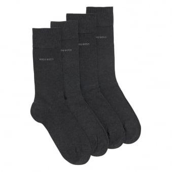 Hugo Boss Double Pack Charcoal Socks 50272214